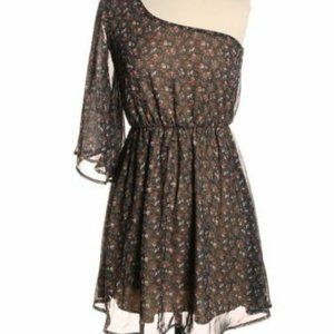 Audrey 3+1 Urban Outfitters Brown Floral Dress